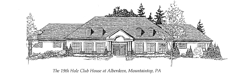 the 19th hole club house at aberdeen in mountaintop pa