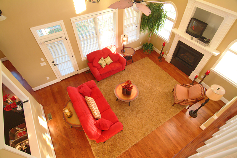 Living room looking down 477194 castle builders for Living room yoga emmaus pa