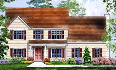drawing of a custom home design